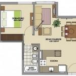 Modelo de casa pequeña de 25 m2