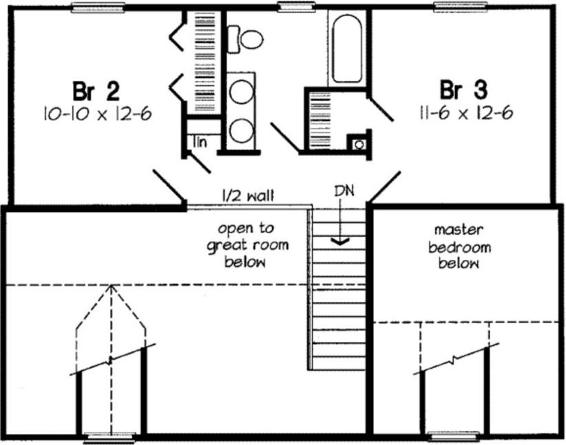 Plano de casa de 145 m2