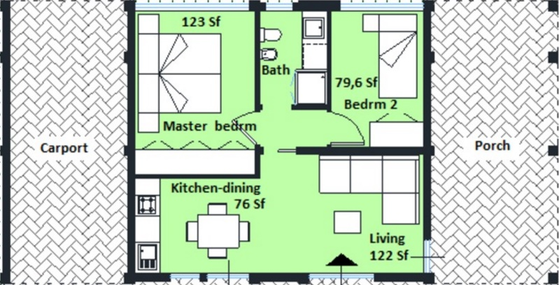planos de casas pequenas de 50 metros cuadrados