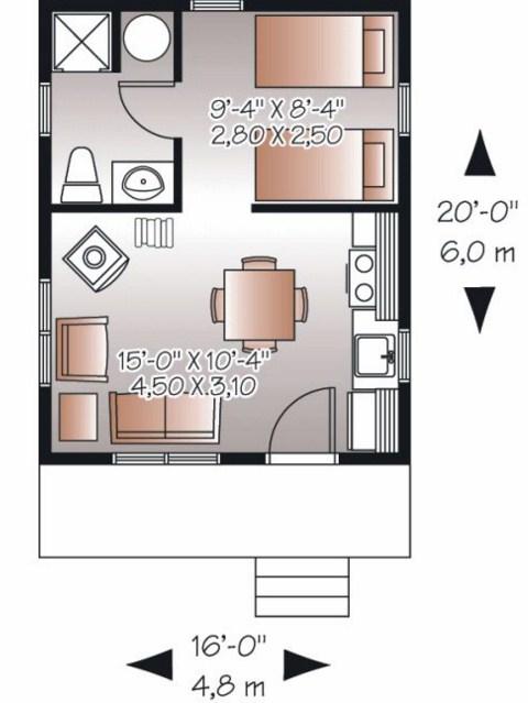 Plano de casa de 5x6m