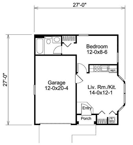 Plano de casa de 8 x 8