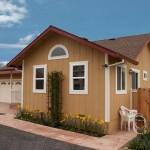 Plano de casa de madera con cochera doble