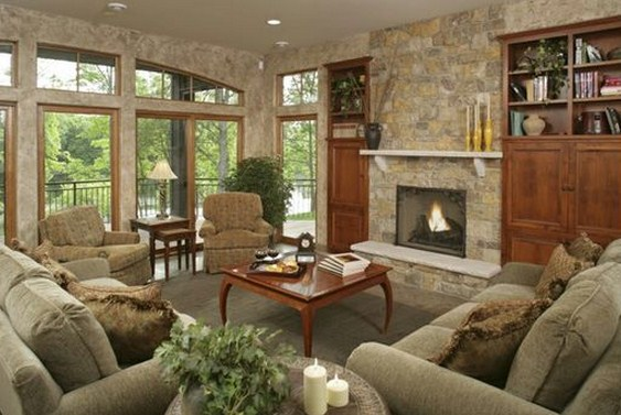 Plano de casa grande de dos pisos sala de estar