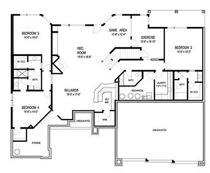 Plano de casa grande de dos pisos y  cochera triple