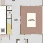 Plano de casa moderna con 2 plantas, 3 dormitorios y garaje
