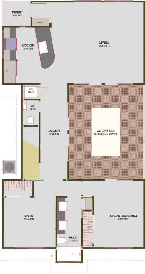 Plano de casa moderna con 2 plantas 3 dormitorios y garaje for Casa de 2 plantas y 3 habitaciones