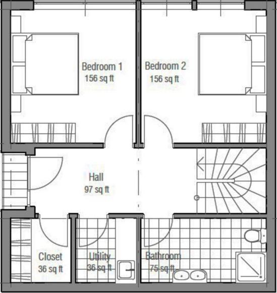 Plano de casa de 150 m2 for Plano casa moderna 3 habitaciones