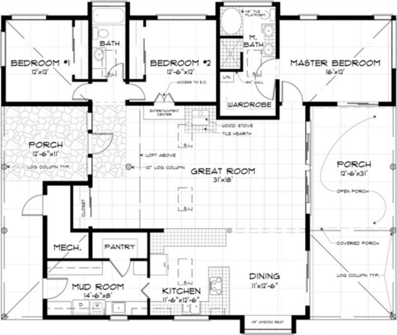 Plano de casa moderna para country for Planos planos de casas