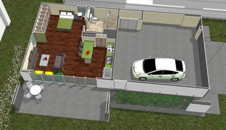 Plano de monoambiente de 60 metros cuadrados for Piso 60 metros cuadrados