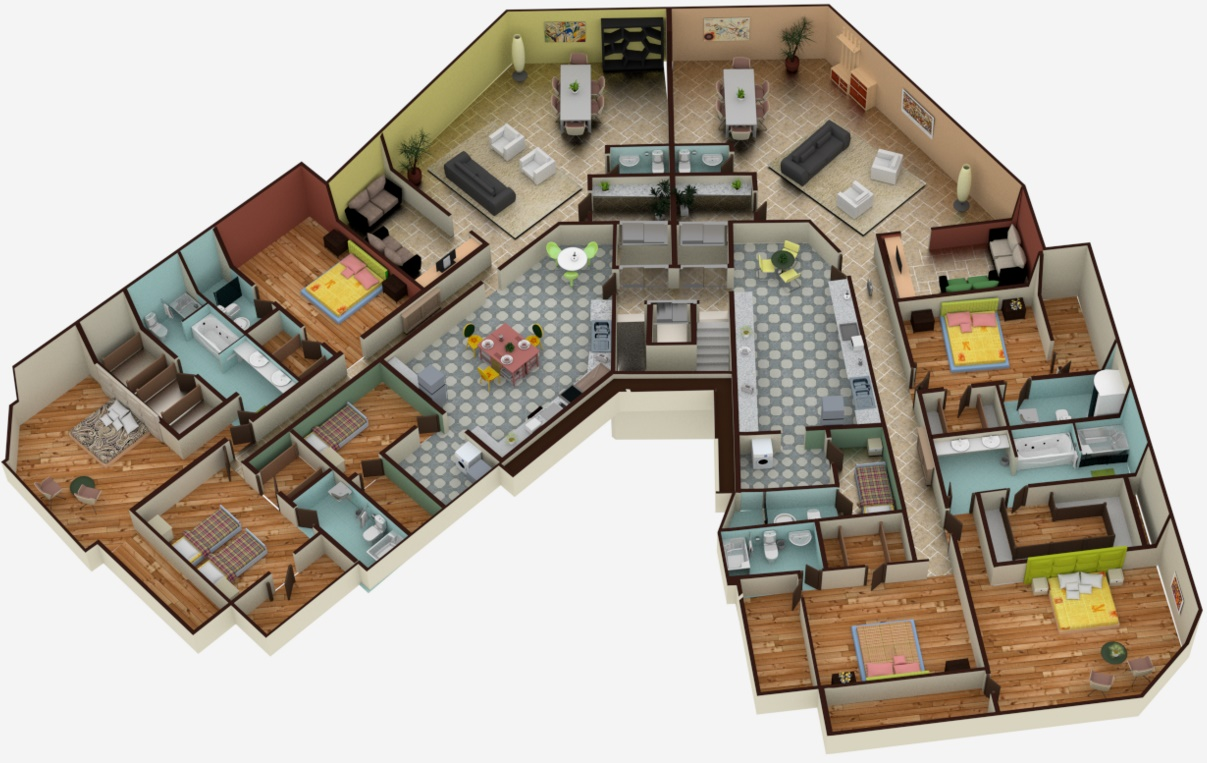 Planos casas modernas for Decoracion piso big bang theory
