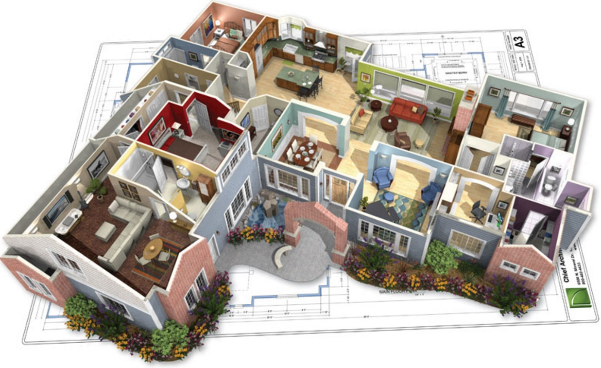 Casas modernas planos the image kid has it for Planos de casas de dos plantas gratis