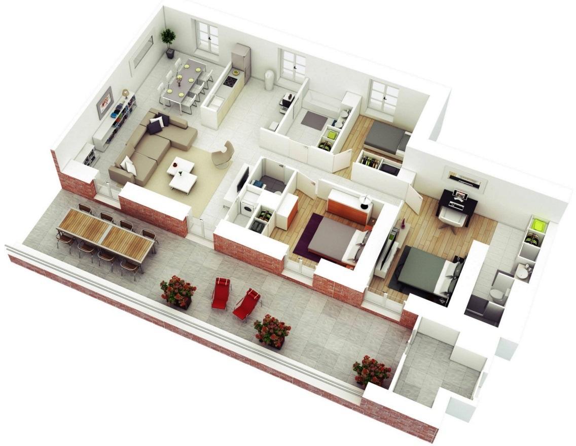Planos casas modernas - Distribuciones de casas modernas ...