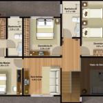 Planos de casas de 3 dormitorios