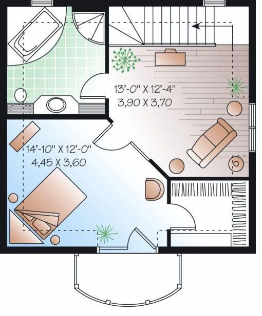 Plantas De Casas Com Medidas Excellent A Continuacin Algunos Planos - Planos-de-casas-de-una-planta-pequeas