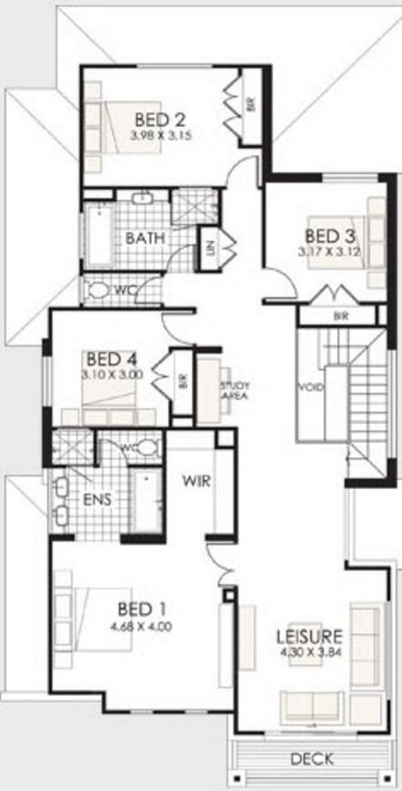 Planos de casas modernas de 2 pisos for Plano casa un piso