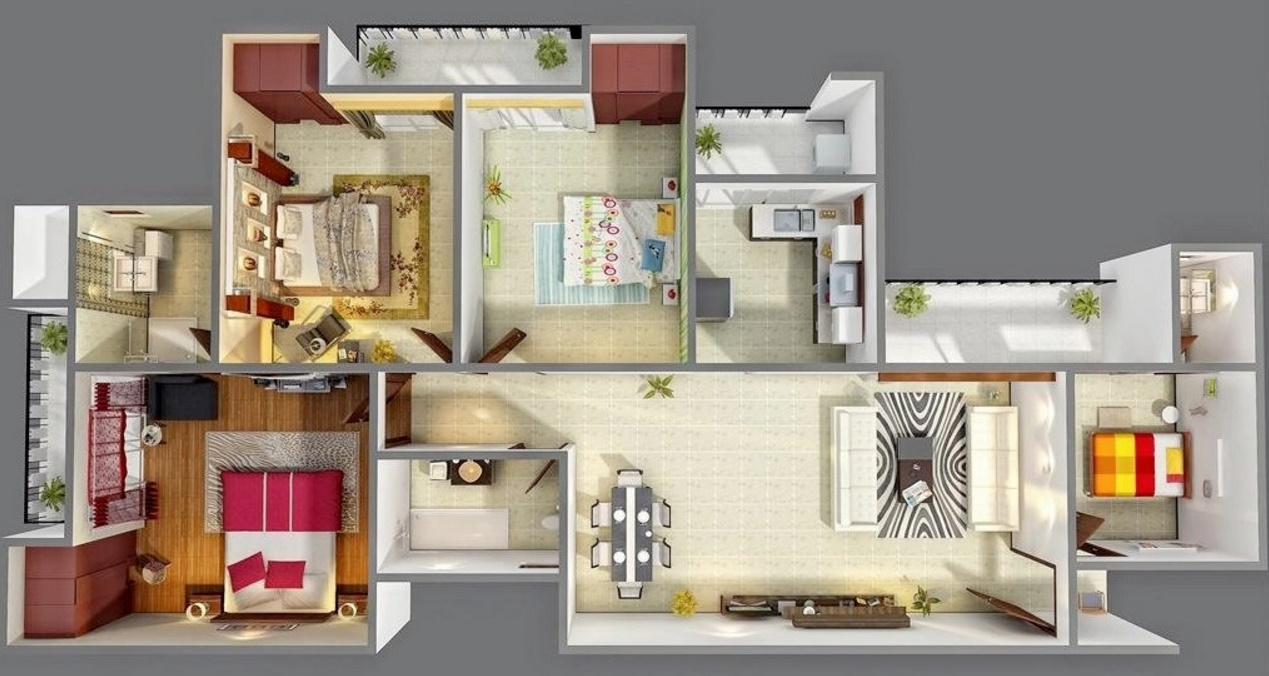 Planos para casas modernas for Hacer casas en 3d online