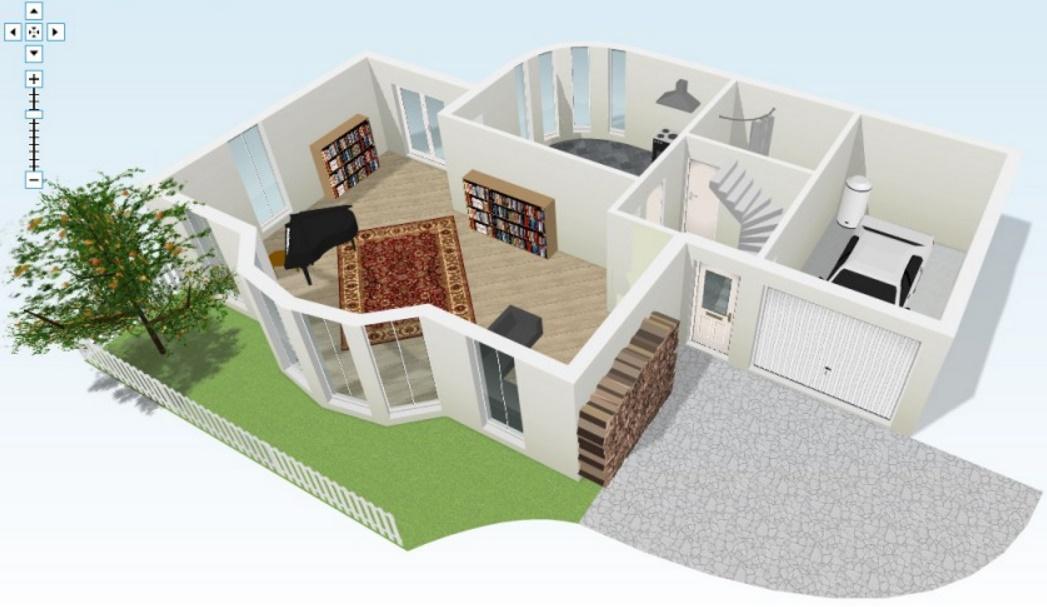 Planos en 3d de casas casa d dwgdibujo de autocad - Programa para planos de viviendas ...