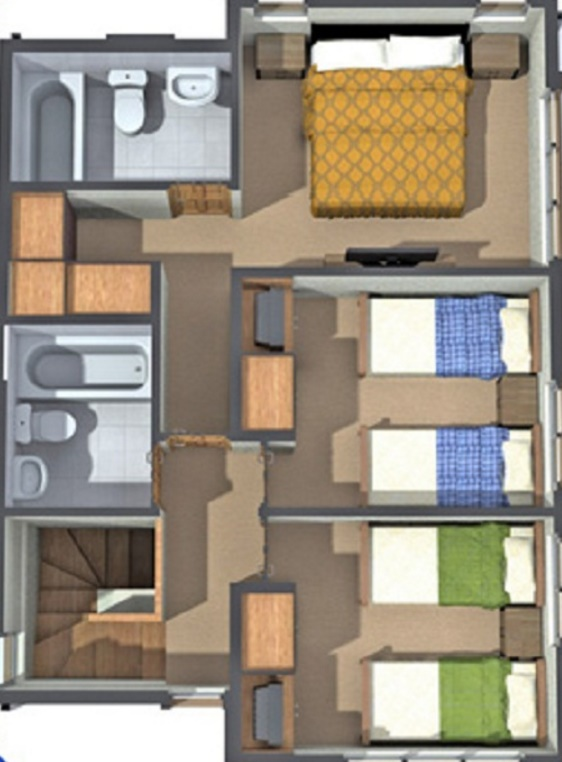 planos de casas de 02 pisos
