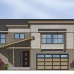 Plano de casa de madera de 3 dormitorios y 2 garajes