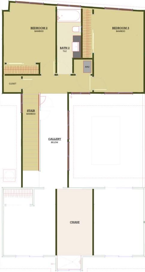 casa moderna con 2 plantas, 3 dormitorios y garaje