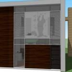 Plano de casa pequeña de 2 dormitorios