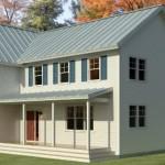Plano de casa tipo country de 2 pisos