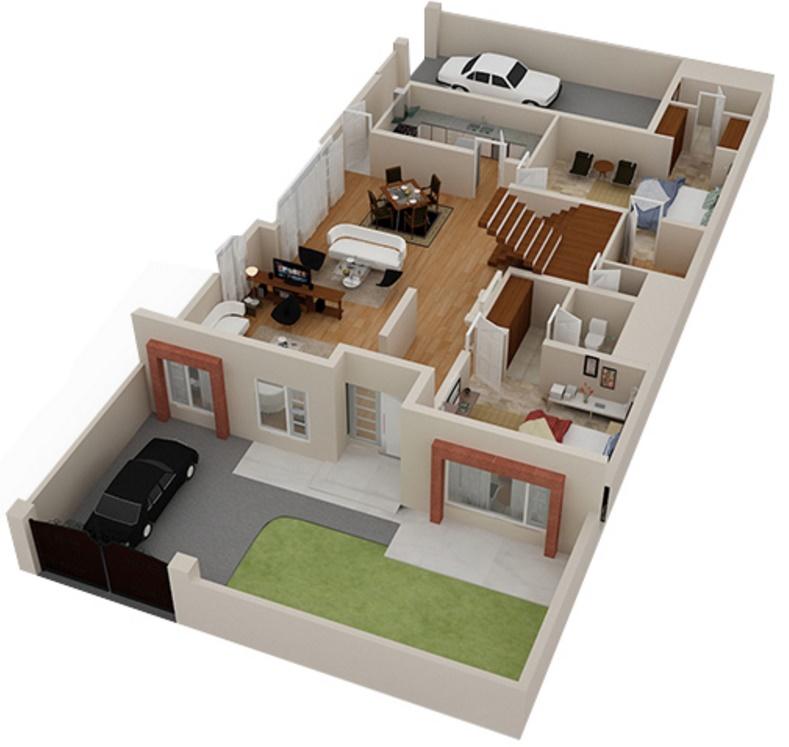 Hacer planos de casas for Casas modernas para construir