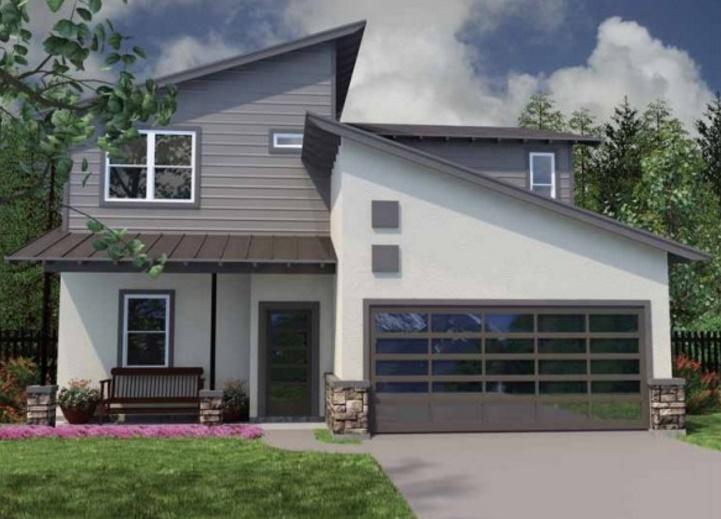 Plano de vivienda unifamiliar moderna de 3 dormitorios for Casas modernas unifamiliares
