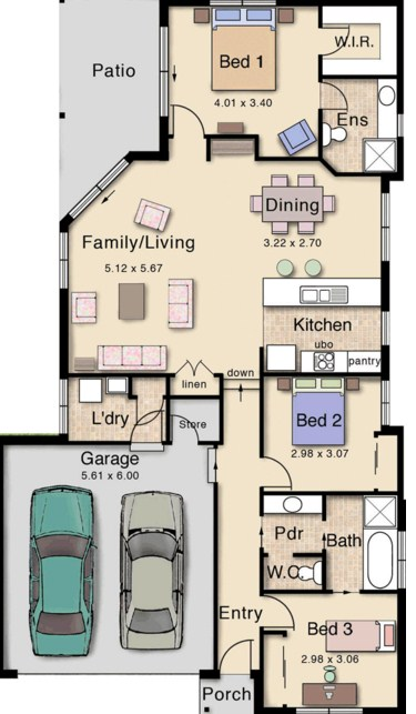 diseo de casa moderna de dormitorios en una planta
