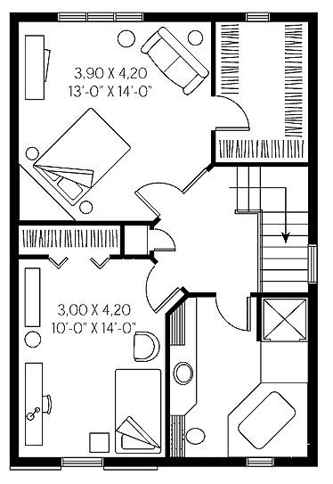 Diseños de casas rectangulares de 2 pisos
