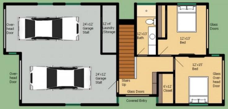 Casa 40 metros cuadrados cheap planos para casas de for Pisos de 40 metros cuadrados