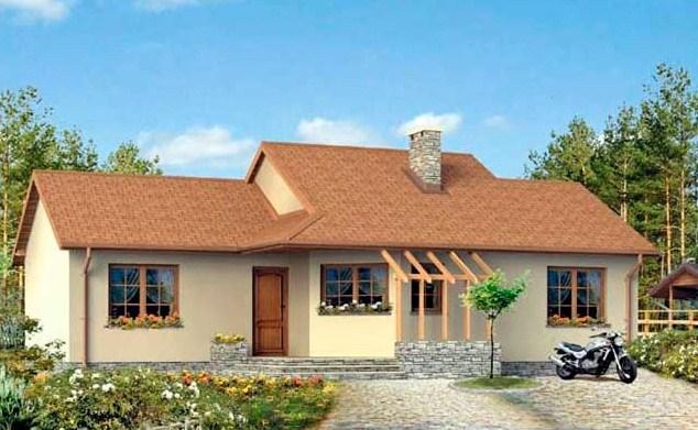 Plano de casa de dos dormitorios y un ba o - Modelos de casas de un piso bonitas ...