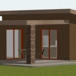 Modelo de casa de 55 metros cuadrados
