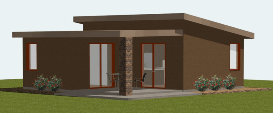 Modelo de casa de 55 metros cuadrados for Casa moderna 50 metros cuadrados