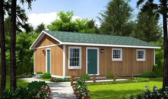 Modelo de casa pequeña de 3 habitaciones