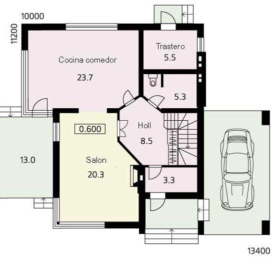 Modelo de casas de dos pisos modernas