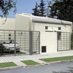 Plano de vivienda unifamiliar de 70 metros cuadrados