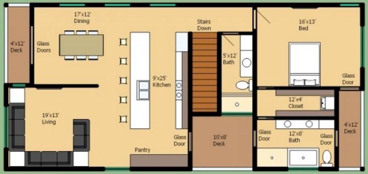 Casa de 170 metros cuadrados con 3 dormitorios for Piso 60 metros cuadrados 3 habitaciones