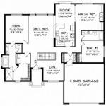 Plano de bungalow con 180 metros cuadrados