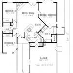 Plano de casa colonial moderna con 3 dormitorios
