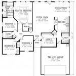 Plano de casa con cochera doble y 1 piso