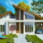 Plano de casa con cochera doble pasante