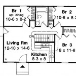 Plano de casa pequeña de 3 habitaciones