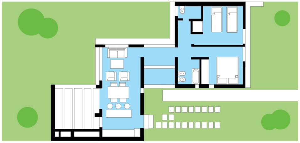 Planos de casas de 70 metros cuadrados planos y casas for Planos planos de casas