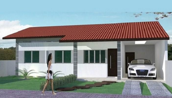 Planos de casas bonitas de un piso 2 dormitorios y garaje