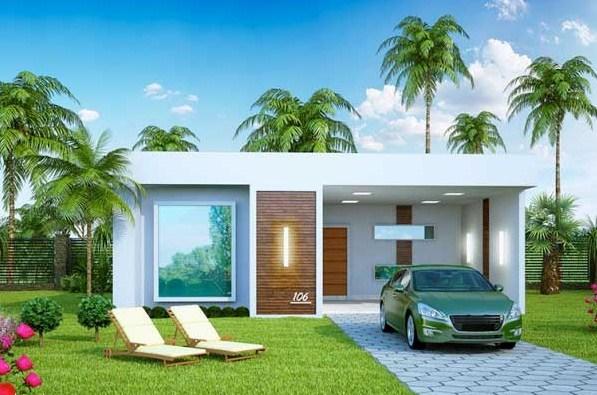 Planos de casas con cochera adelante