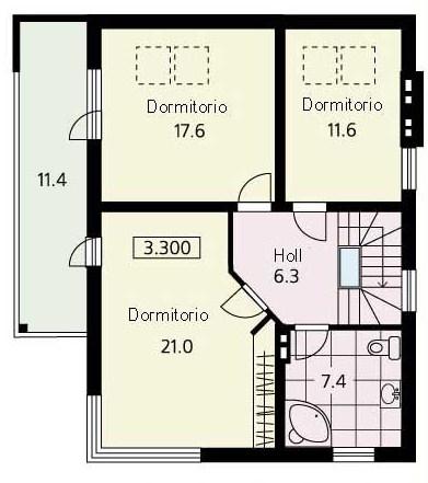 Planos de casas de 2 pisos modernas