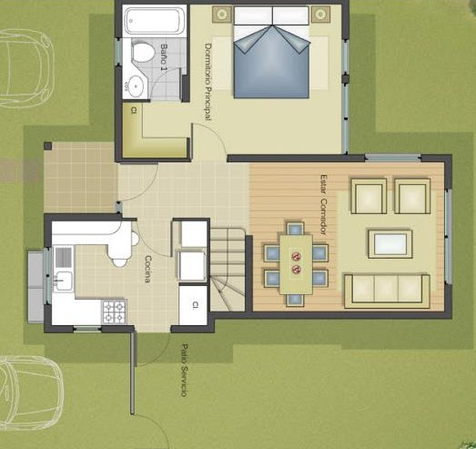 Planos de casas de 2 pisos y 3 dormitorios gratis for Planos de casas de un piso gratis