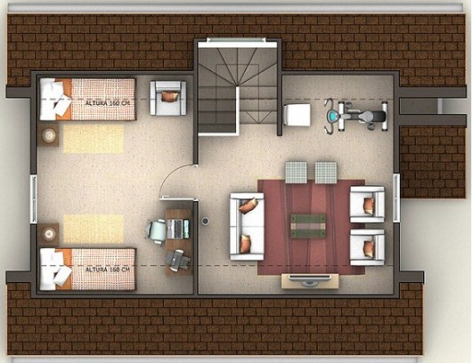 Plano de casa de 3 pisos for Planos de casas 200m2