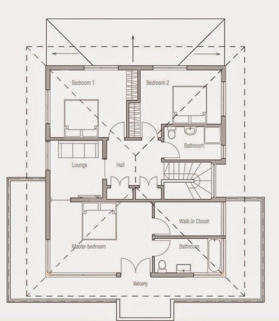 Planos de casas de dos pisos minimalista